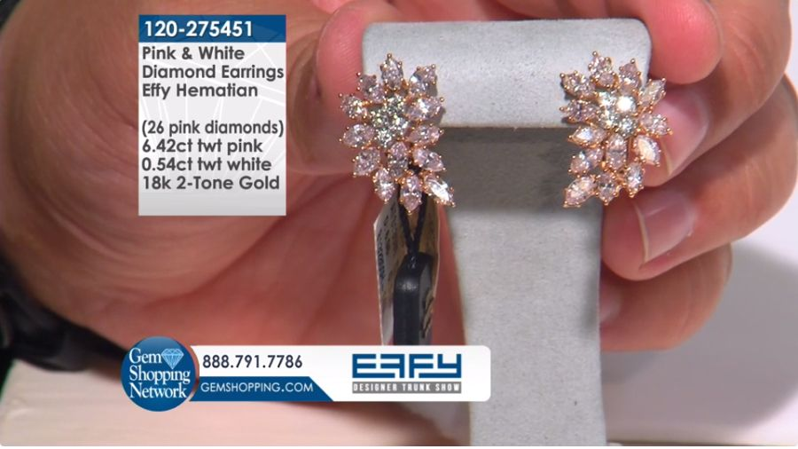 Effy Diamond Multi Shape 18k 2 Tone Gold Earrings Tune Into The Most Exquisite J Emerald