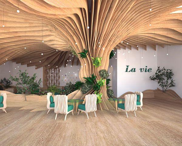 Parametric Interior Design Tree Interior Interior Architecture Design Interior Design Courses Online