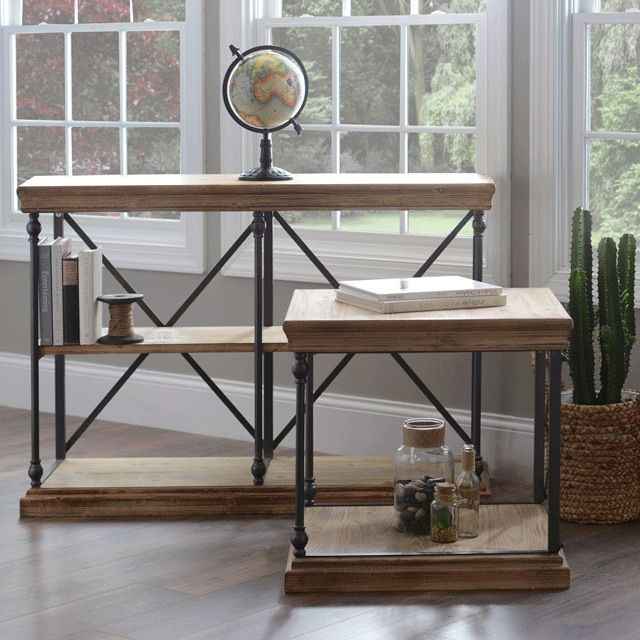 Go Industrial With Our Sonoma Console And Side Table. The Metal Crossbars  And Accents Give