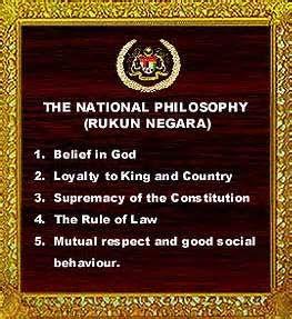 Islam Ku Rukun Negara The National Philosophy Philosophy Negara King And Country