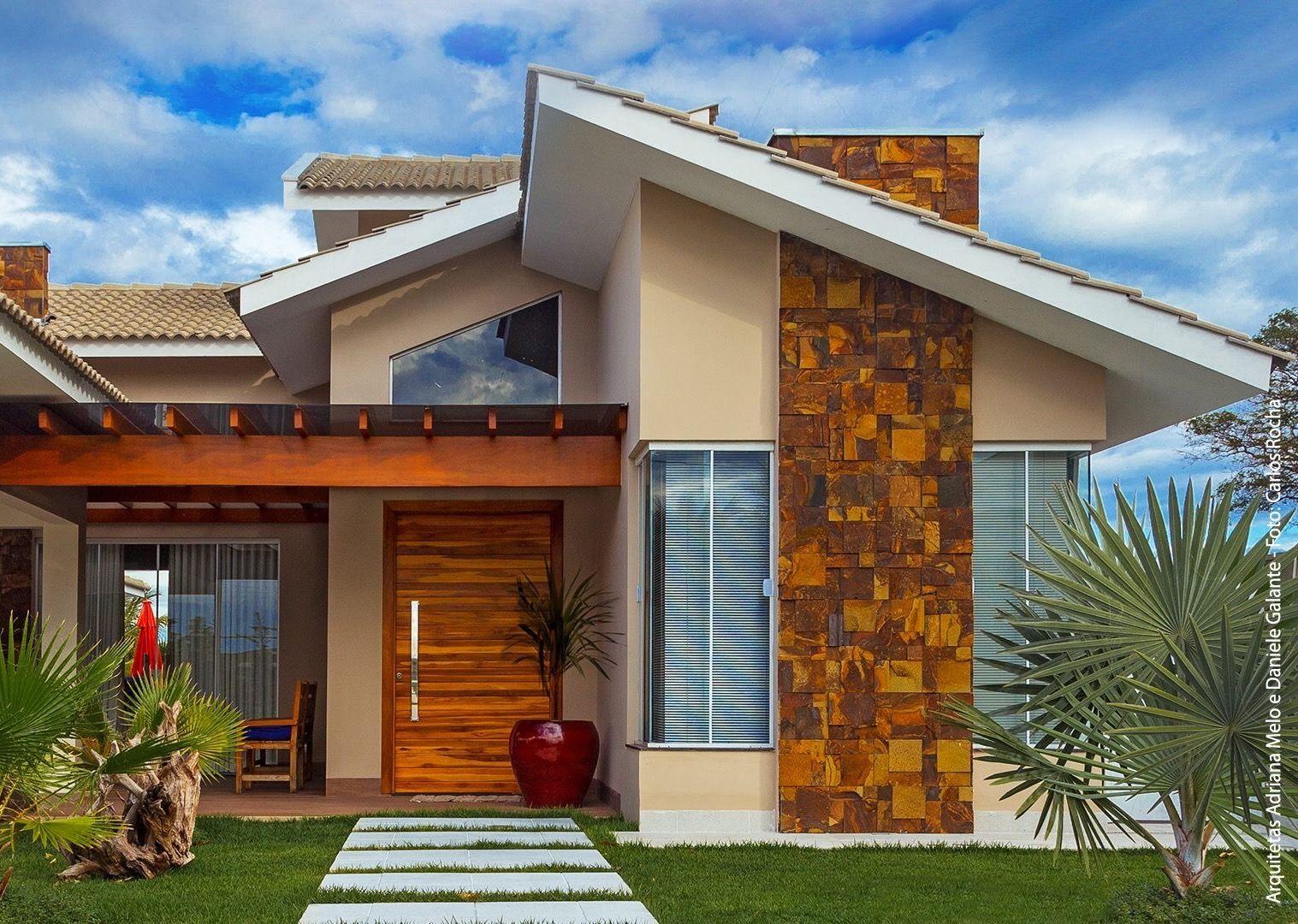 Muito linda est casa kiosko pinterest fachadas for Fachadas de casas modernas 1 pavimento
