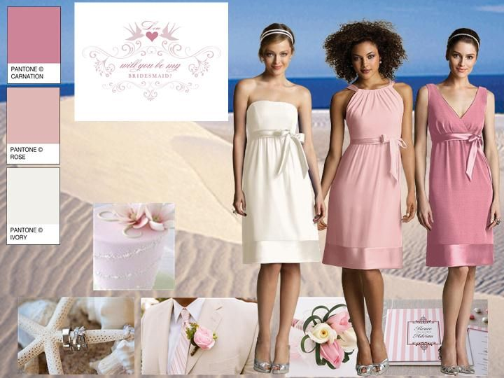 Pink Sand Pantone Wedding Styleboard The Dessy Group