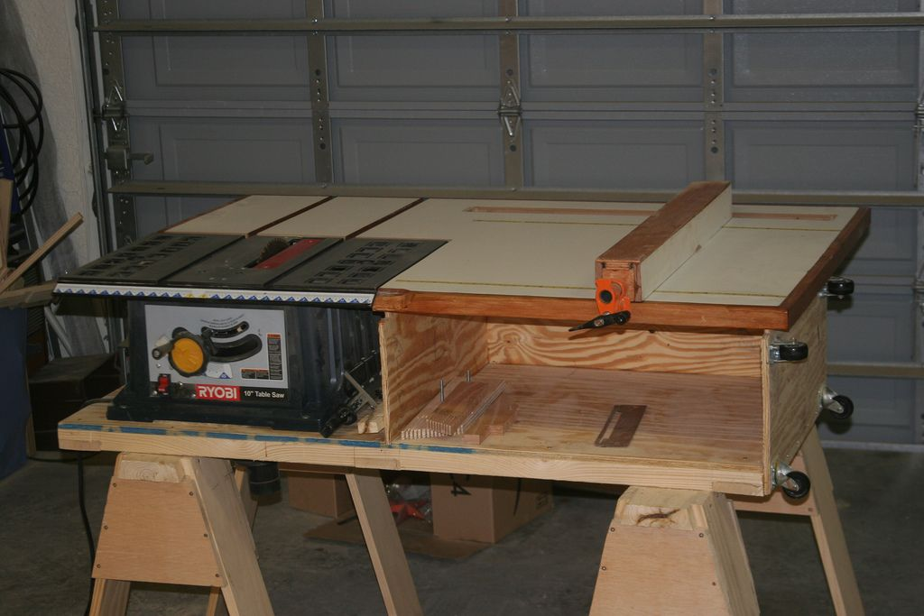Table saw station woodworking shop ideas and workshop plans from the new yankee workshop plans apologies to norm greentooth Choice Image