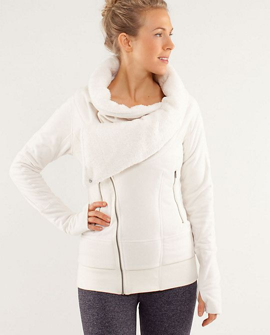 56a9b56abdc We girls love our LuLu Lemon. She ll love the cozy comfort of this new Off  The Mat Jacket. Online only.