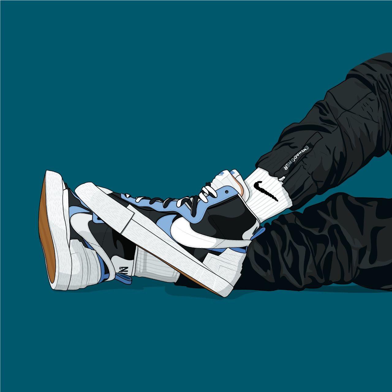 Sacai x Nike Blazer in 2020 | Cool nike