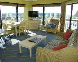 Living Room Of One The Suites At Sea Gl Tower In Myrtle Beach