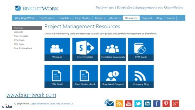 free project management template for sharepoint from brightwork and ...