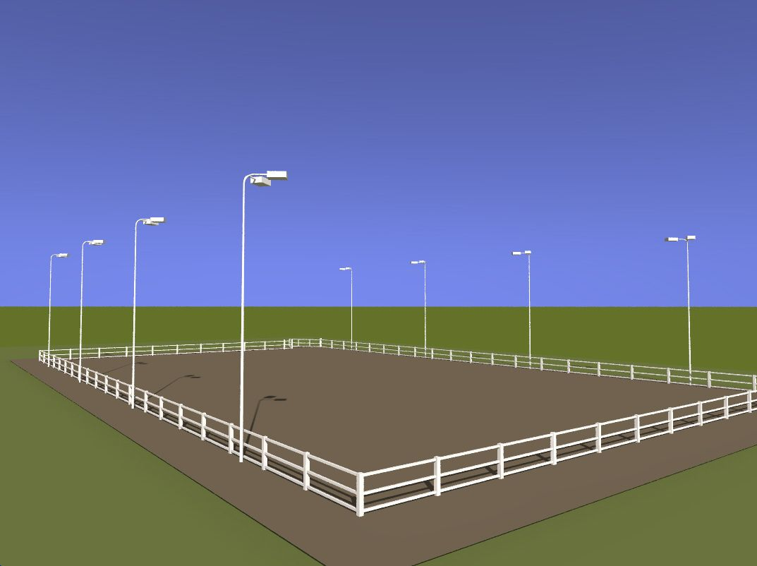 Nice lighting but id need speakers that i could hook up my ipod outdoor horse arena led lighting serious attention should be paid by us to the kinds of lamps were installing in our outdoor space whether the lamp is workwithnaturefo