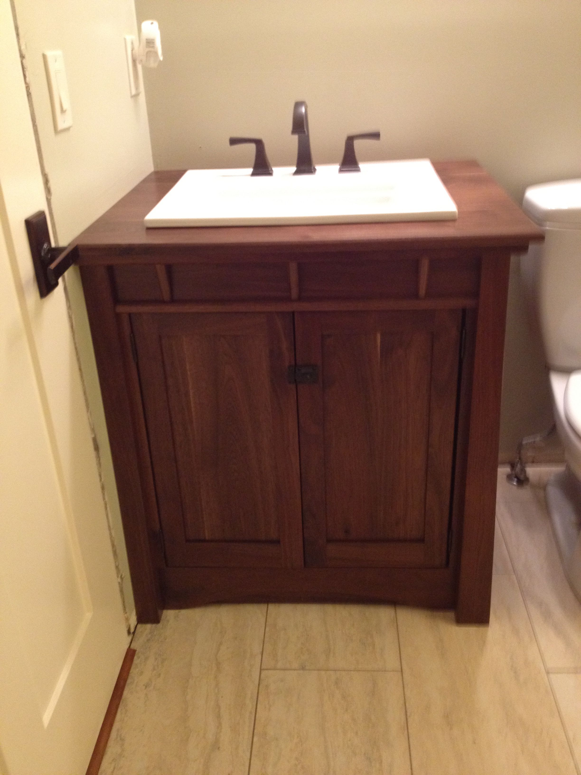 New Custom Arts Crafts Craftsman Vanity I Designed