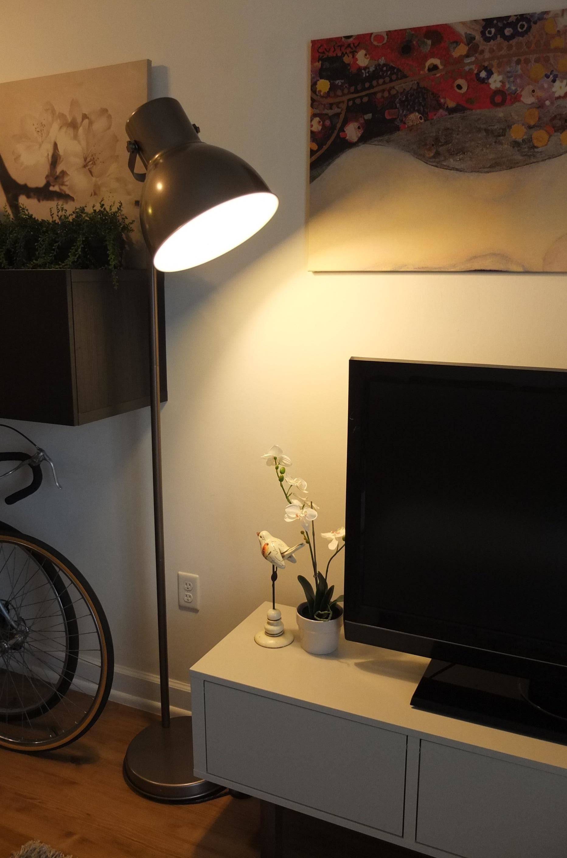 HEKTAR Floor lamp dark gray