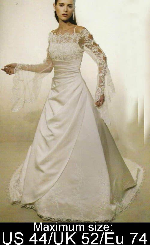 vintage modest under 200 plus size wedding dresses with sleeves.jpg ...