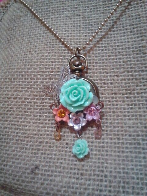 Upcycled repurposed vintage necklace