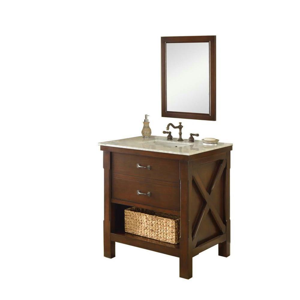 Direct Vanity Sink Xtraordinary Spa 32 In Vanity In Dark Brown