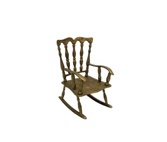 Fine Small Brass Rocking Chair Vintage Decorative Plant Stand Spiritservingveterans Wood Chair Design Ideas Spiritservingveteransorg