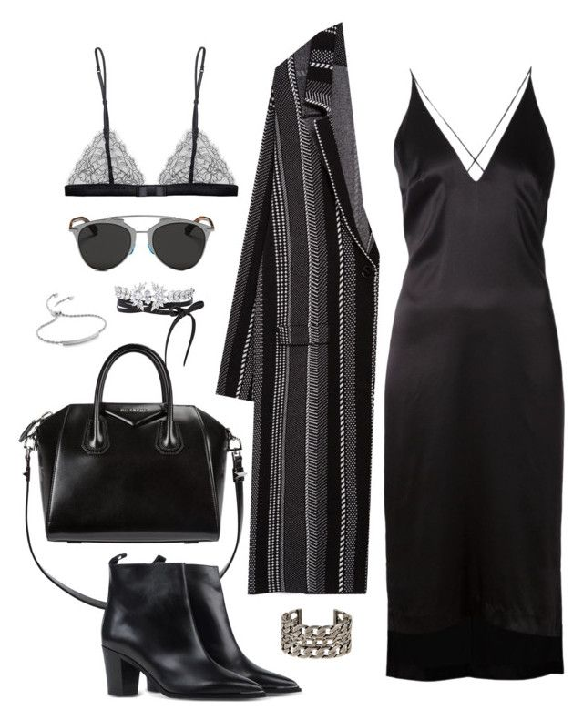 """Untitled #722"" by jennifer1297 ❤ liked on Polyvore featuring Fallon, Dion Lee, Zara, Givenchy, Acne Studios, Monica Vinader, Maison Close, Isabel Marant and Christian Dior"