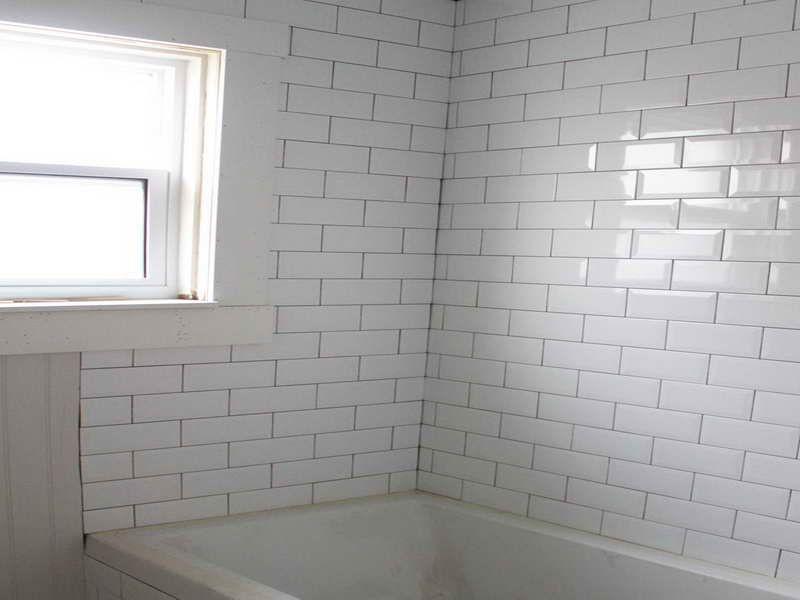 Beveled Edge Subway Tile For Bathroom
