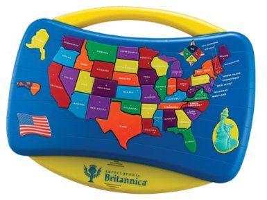 Encyclopedia Britannica Talking Us Puzzle Map Amazon.com: Tek Nek Encyclopedia Britannica Talking U.S. Puzzle