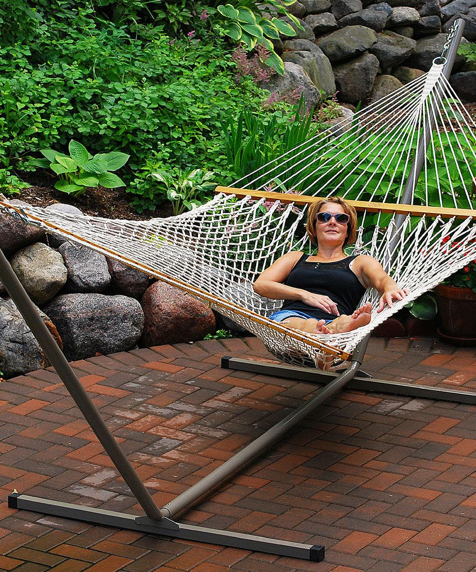 another great find on  zulily  algoma    pany white 13 u0027 cotton rope hammock another great find on  zulily  algoma    pany white 13 u0027 cotton      rh   pinterest
