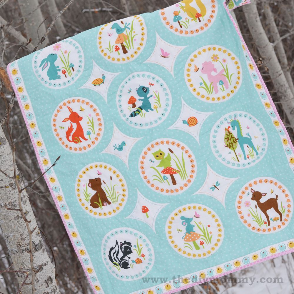 Sew an easy beginners baby quilt by the diy mommy learning to baby blanket quilt patterns sew an easy beginners baby jeuxipadfo Gallery