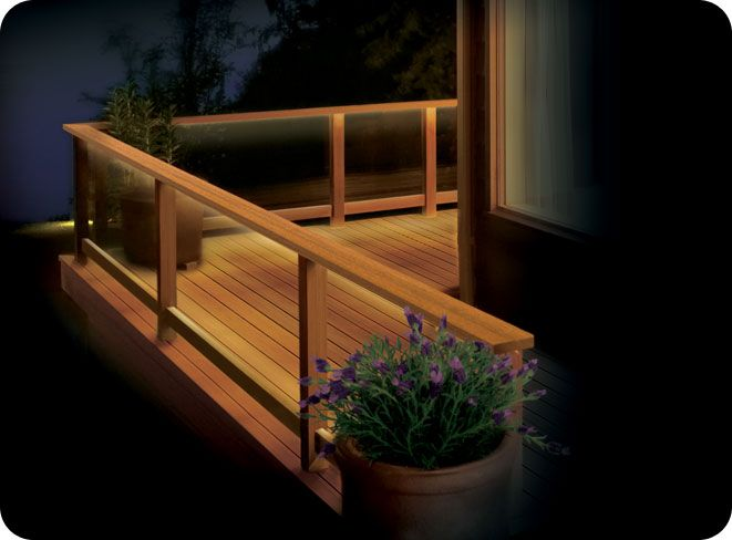 Eco Friendly DIY deck lighting project using the 6 ft LED Ribbon