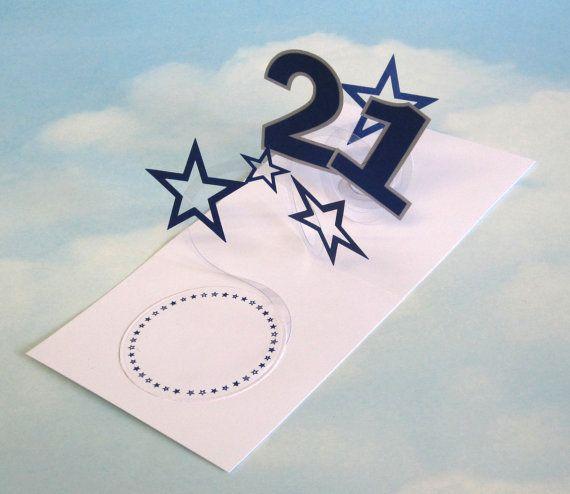 21st Birthday Card Spiral Pop Up 3d By Littleroundbutton On Etsy 3 50 Birthday Cards 21st Birthday