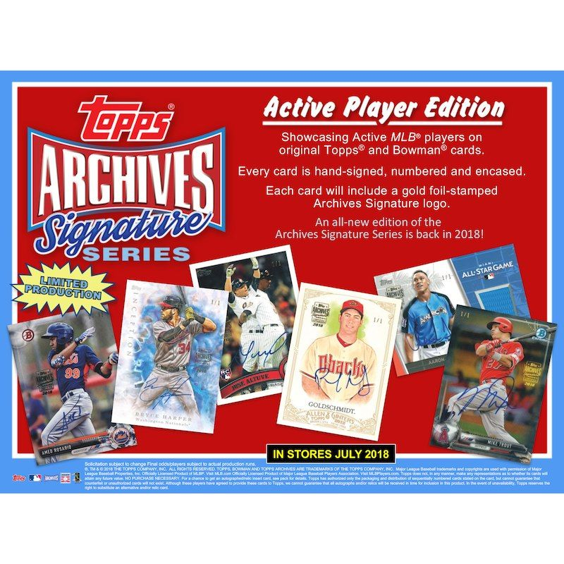 2018 Topps Archives Baseball Factory Sealed 16 Ct BRAND NEW!! Blaster Box Case