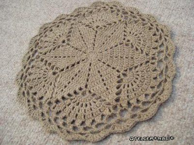 Big Star doily, free pattern by Atelier *mati*.  Link to Japanese pattern diagram also on page.  #crochet #hexagon