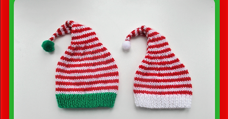 Just how cute would a newborn look in one of these little Elf Hats ...