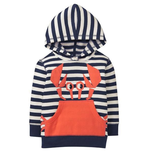 0c327c4f0 Toddler Boy Gym Navy Stripe Crab Hoodie by Gymboree