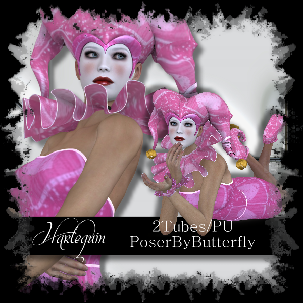 Poser by Butterfly: Harlequin 2