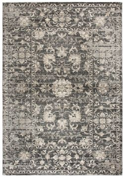 Gray And Tan Distressed Floral Area Rug 8x10 Rizzy Home Rugs In Living Room Rugs