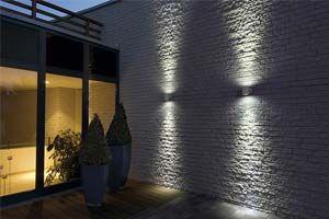 gevel muur led wand verlichting www.ledverlichtingonline.eu | Tuin ...