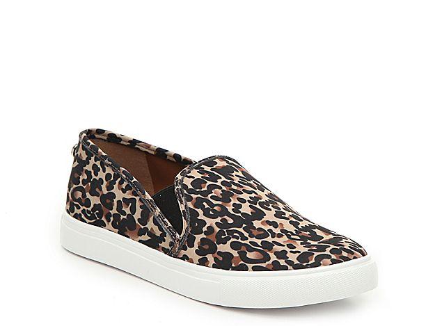 130b456c Women Symba Slip-On Sneaker -Black/Brown Leopard Print Fabric in ...