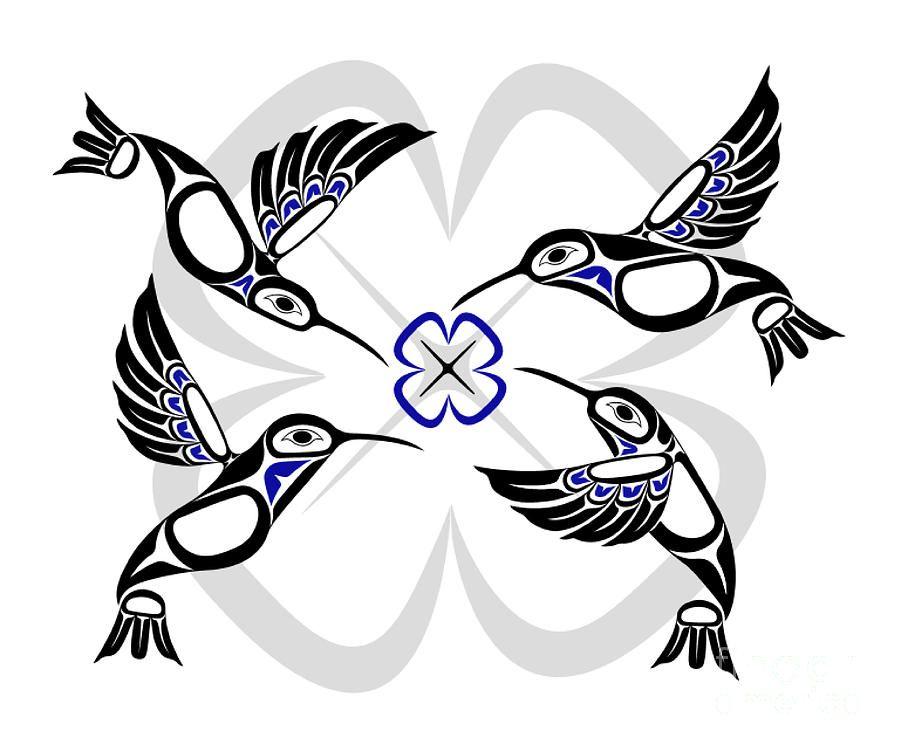 Pin by Nicola Last on Native art Hummingbird art, Native