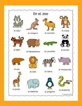 Spanish Zoo Animals En El Zoo Puzzles Pack Los Animales Zoo Animals Zoo Animal Puzzle