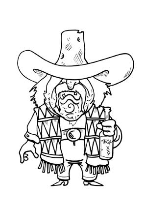 Ausmalbild Cowboy Cowboy Draw Drawing Clipart Clip Art