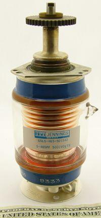Jennings USLS-465-5D1542 glass vacuum variable capacitor
