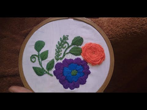 Easy and beautiful pillow embroidery designs   hand embroidery designs   Embroidery home