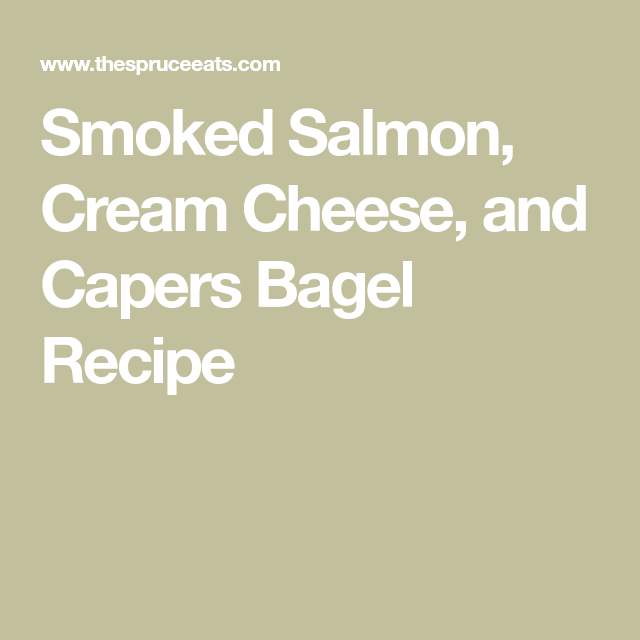 The Perfect Combination of Smoked Salmon and Cream Cheese -