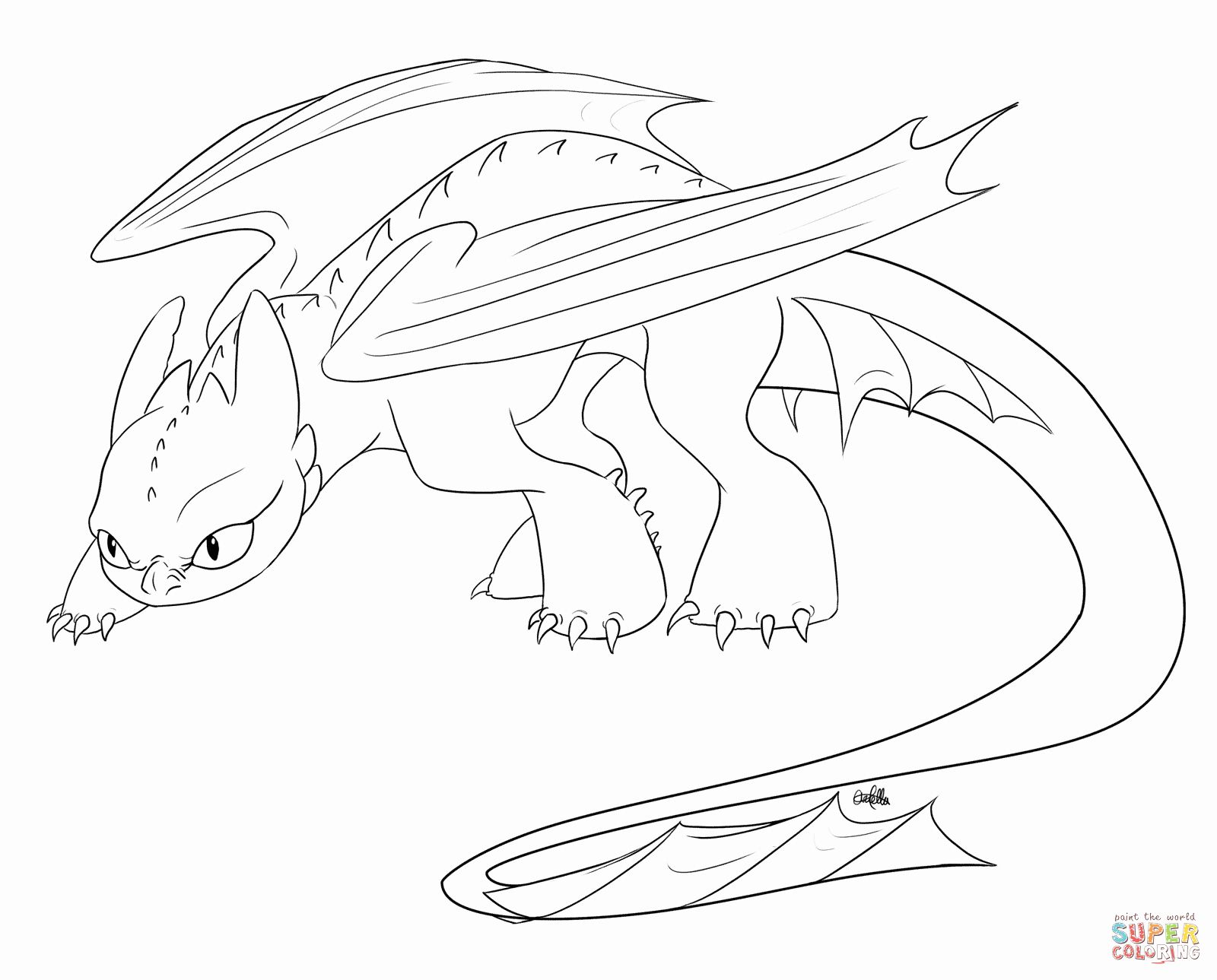 - 32 Toothless Dragon Coloring Page In 2020 Dragon Coloring Page