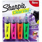 Amazon.com: Sharpie Clear View Highlighter Stick, Assorted, 4-Pack (1950749): Office Products