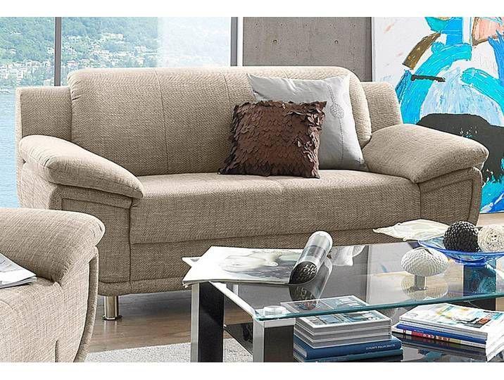 Trendmanufaktur 2 Sitzer Sofa Beige Stoff B H T 178x46x56cm