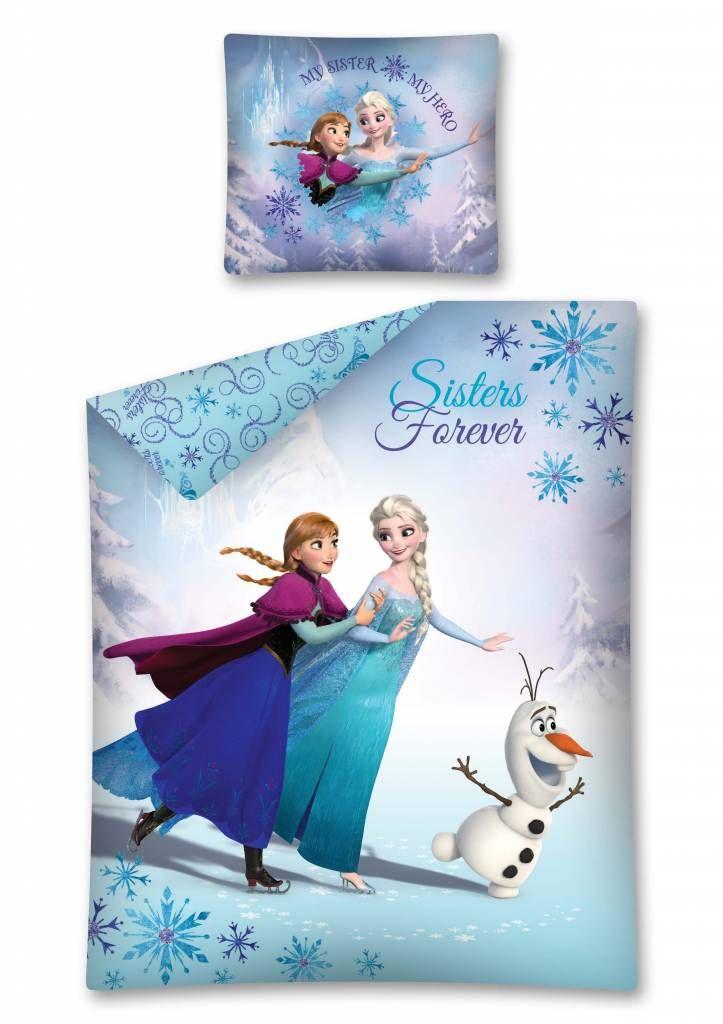 Disney Frozen Eenpersoons Dekbedovertrek Met De Prinsessen Elsa En