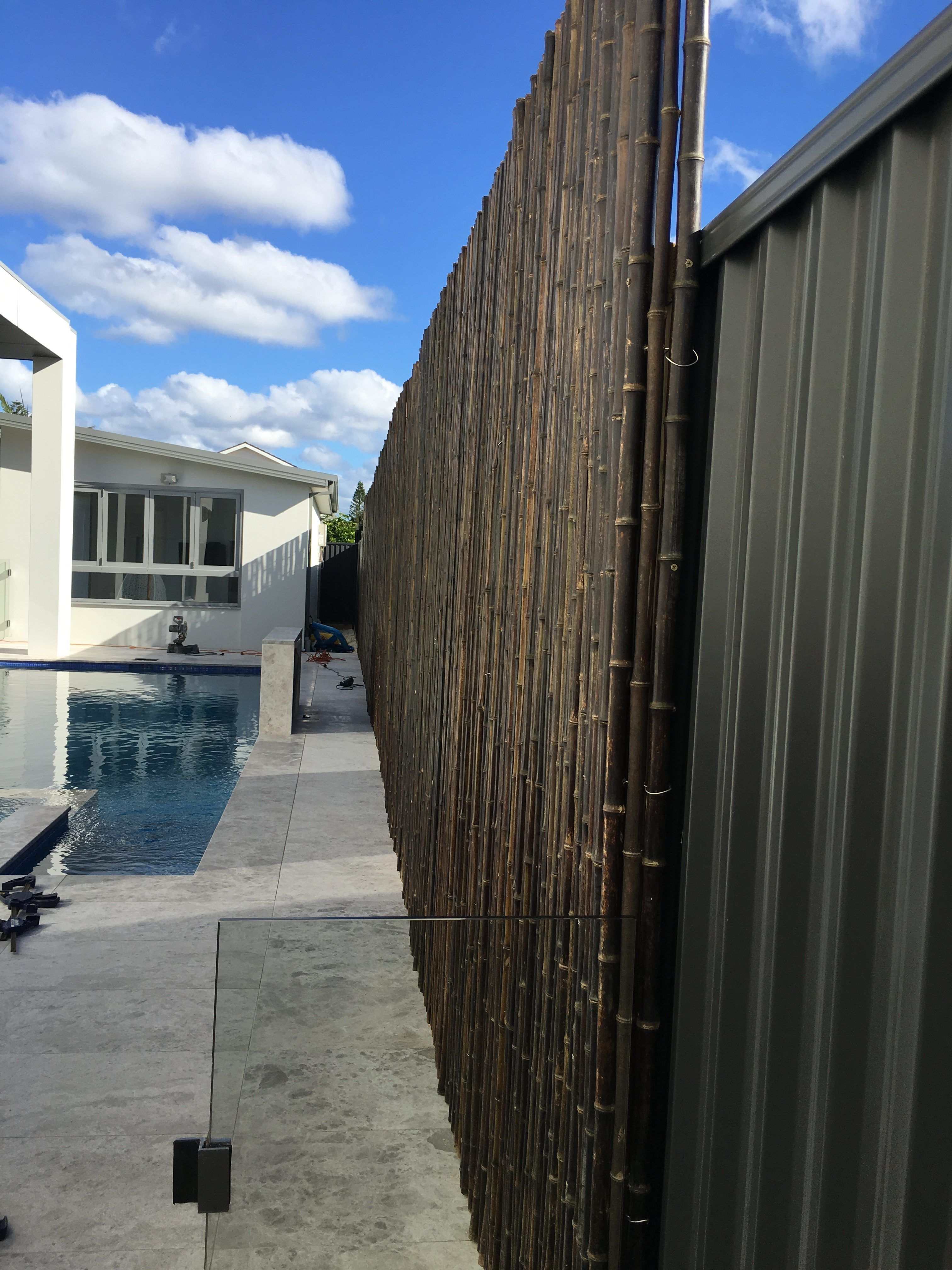 Black Bamboo Installed On Colorbond