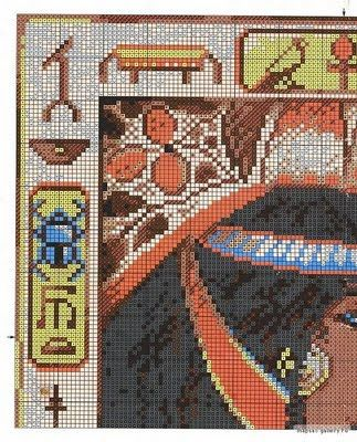 Punto de cruz egipcio | laboresdeesther Punto de cruz gratis ...