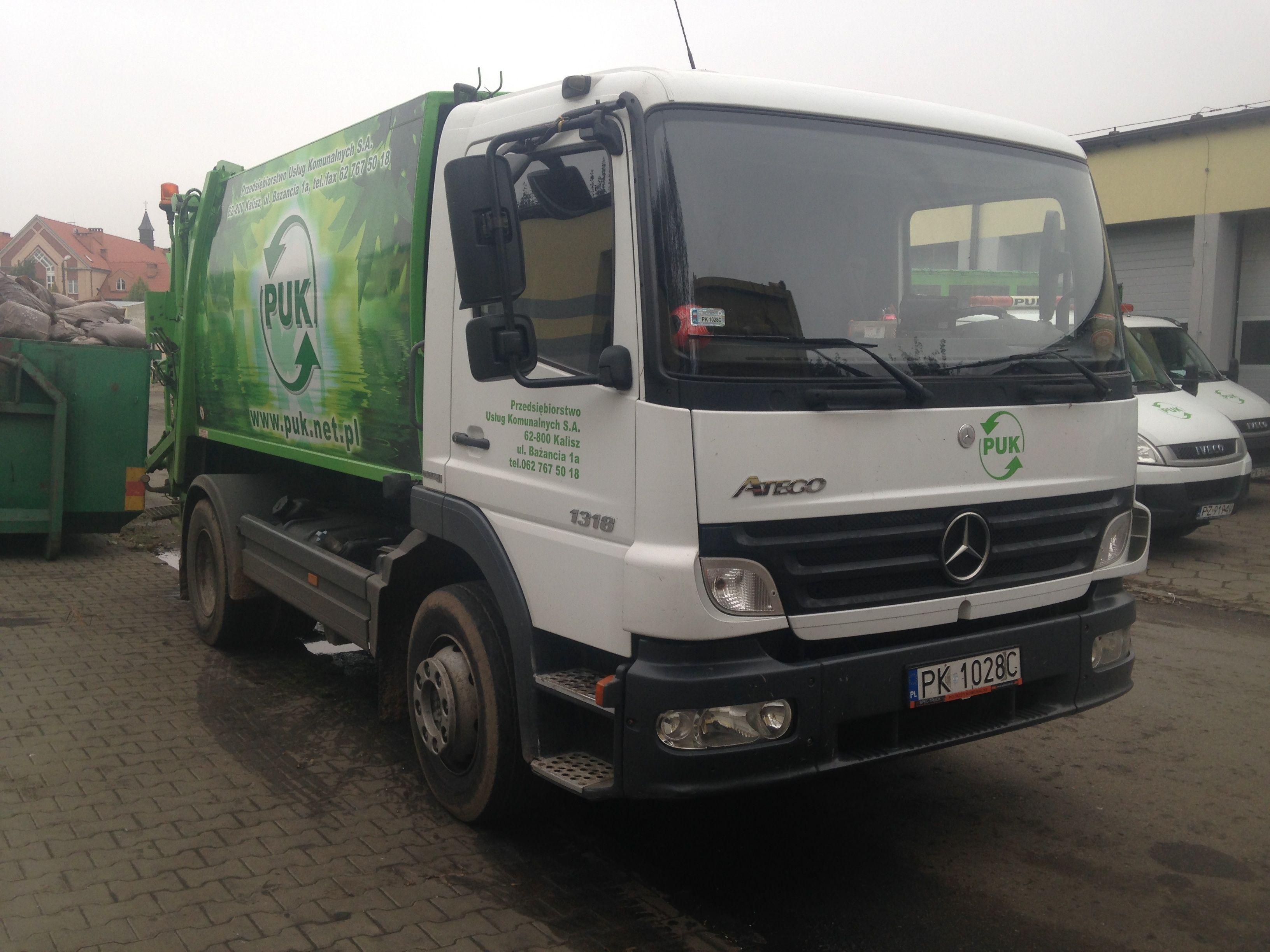 Ntm k maxi mb atego mieciarka dla firmy puk kalisz refuse truck rear