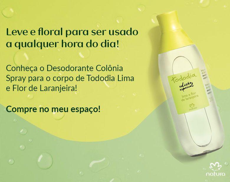 Tododia Verao 2018 Natura Spray Corporal Desodorante Spray