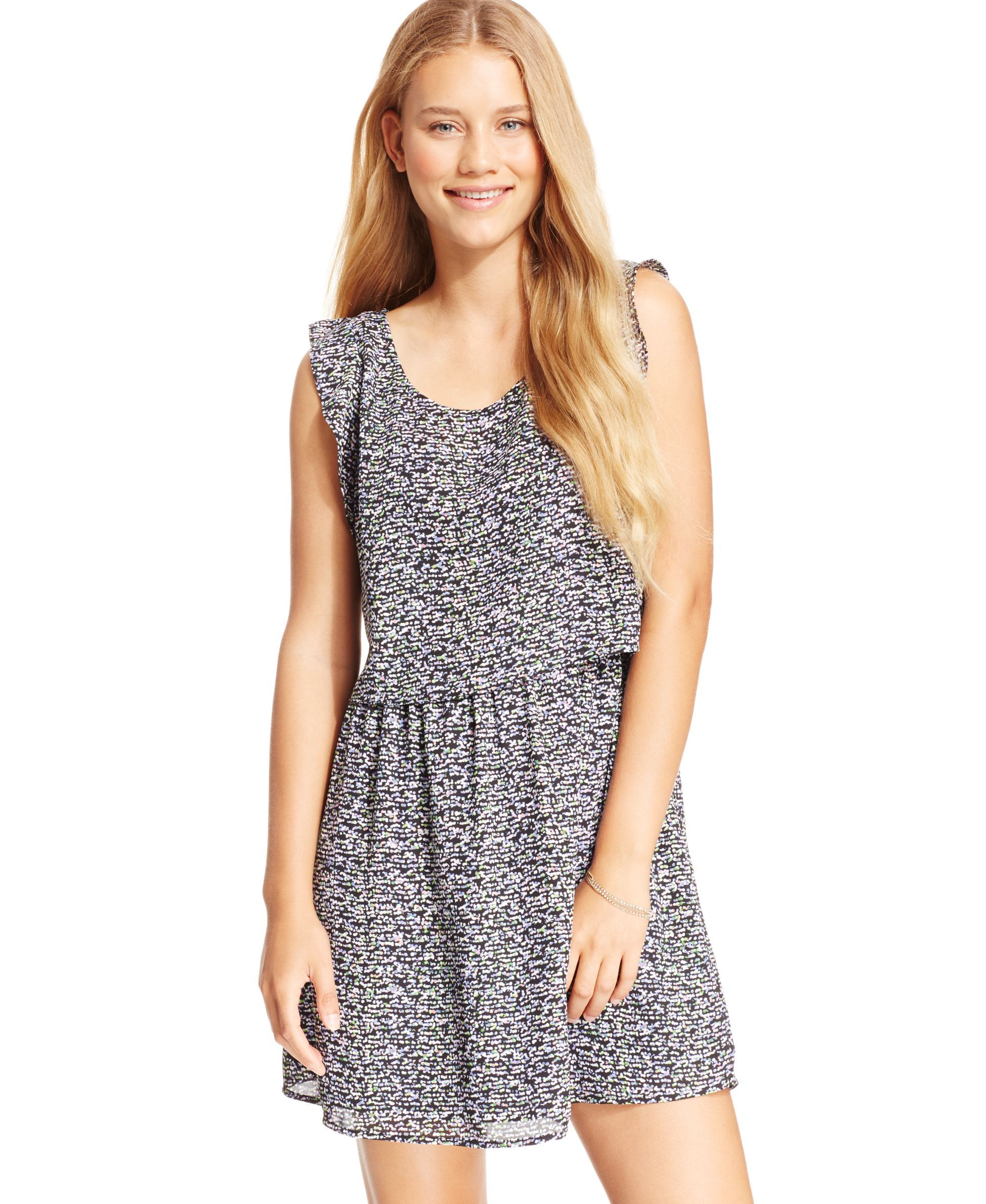 Jessica Simpson E Convertible Popover Tank Dress