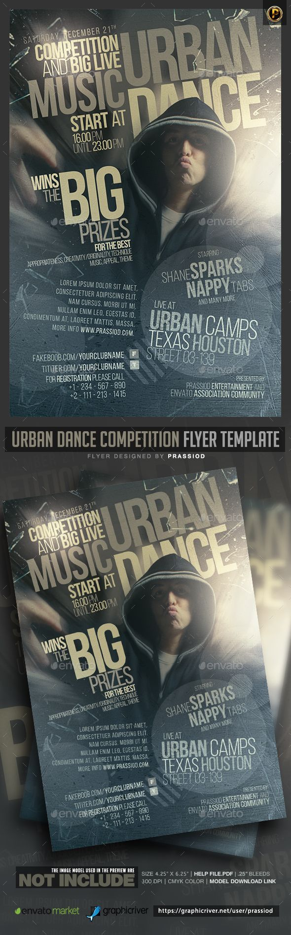 Urban Dance Competition Flyer Template Flyer Template Template