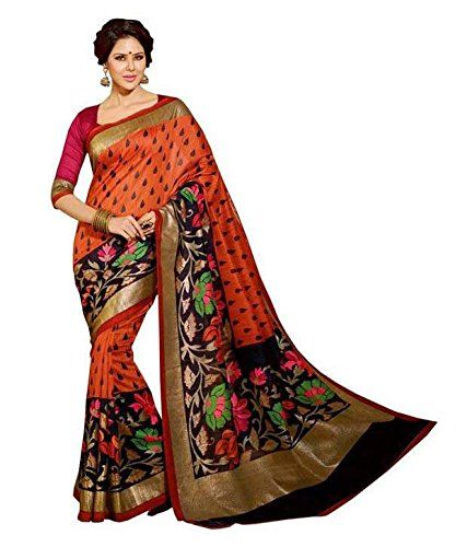 043ac0a6fcb Rs. 420 Bhagalpuri Cotton Silk Saree from Binny Creation